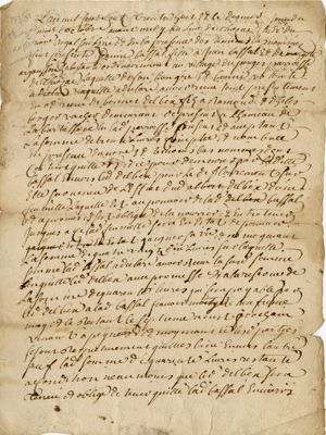 Obligation de Bonnet Delbex : recto (1738)